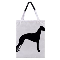 Whippet Silhouette Classic Tote Bags