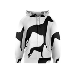 Whippet Silhouette Kids Zipper Hoodies