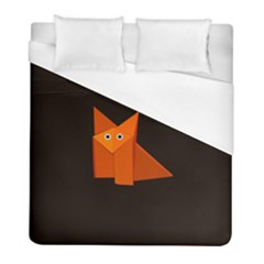 Dark Cute Origami Fox Duvet Cover Single Side (twin Size)