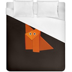 Dark Cute Origami Fox Duvet Cover Single Side (double Size)