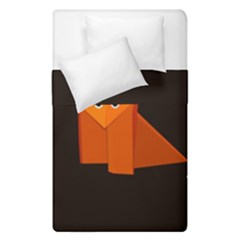 Dark Cute Origami Fox Duvet Cover (single Size)