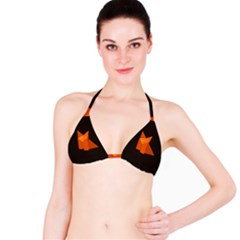 Dark Cute Origami Fox Bikini Tops
