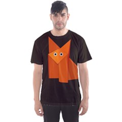 Dark Cute Origami Fox Men s Sport Mesh Tee