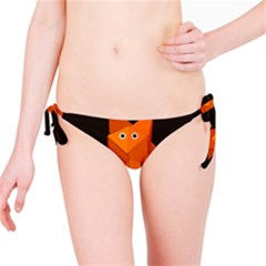 Dark Cute Origami Fox Bikini Bottom