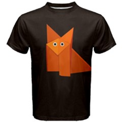 Dark Cute Origami Fox Men s Cotton Tee