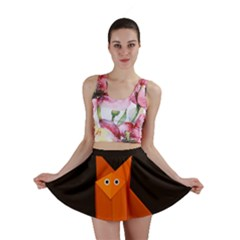 Dark Cute Origami Fox Mini Skirt