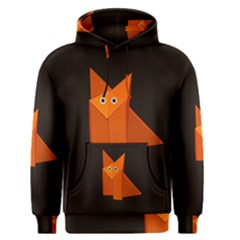 Dark Cute Origami Fox Men s Pullover Hoodies