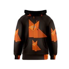 Dark Cute Origami Fox Kid s Pullover Hoodies