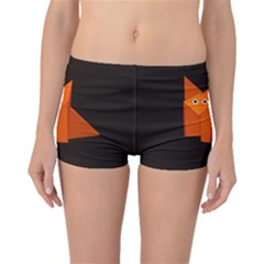 Dark Cute Origami Fox Boyleg Bikini Bottoms