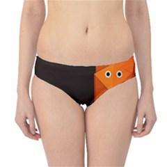 Dark Cute Origami Fox Hipster Bikini Bottoms