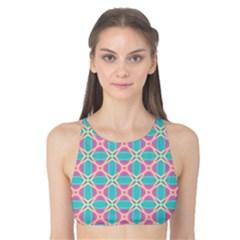 Cute Pretty Elegant Pattern Tank Bikini Top