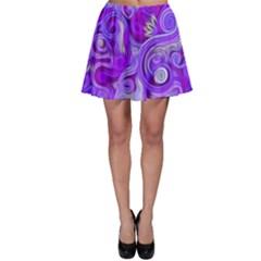 Lavender Swirls Skater Skirts