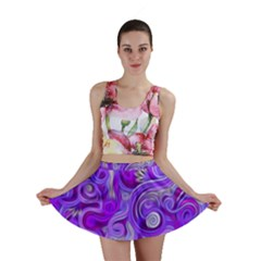 Lavender Swirls Mini Skirts