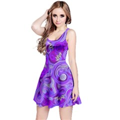 Lavender Swirls Reversible Sleeveless Dresses