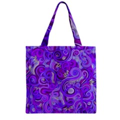 Lavender Swirls Grocery Tote Bags