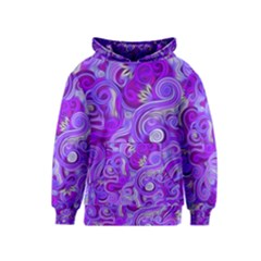 Lavender Swirls Kid s Pullover Hoodies
