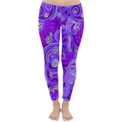 Lavender Swirls Winter Leggings