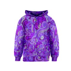 Lavender Swirls Kids Zipper Hoodies