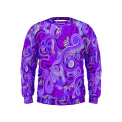 Lavender Swirls Boys  Sweatshirts
