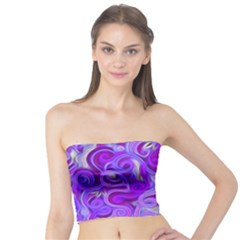 Lavender Swirls Women s Tube Tops