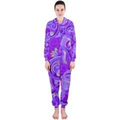 Lavender Swirls Hooded Jumpsuit (Ladies)