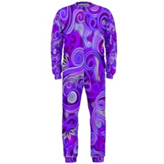 Lavender Swirls Onepiece Jumpsuit (men)