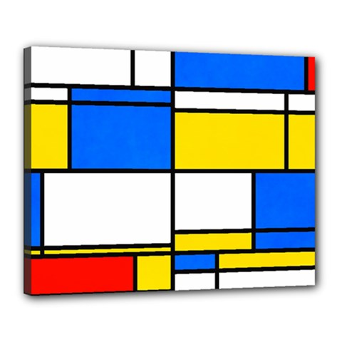 Colorful Rectangles Canvas 20  X 16  (stretched)