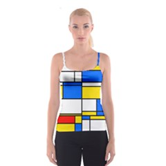 Colorful rectangles Spaghetti Strap Top