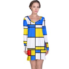 Colorful rectangles nightdress