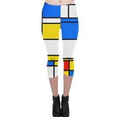 Colorful rectangles Capri Leggings