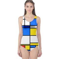 Colorful rectangles Women s One Piece Swimsuit