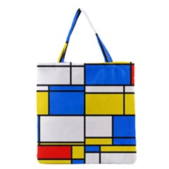 Colorful Rectangles Grocery Tote Bag