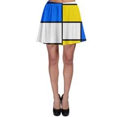 Colorful rectangles Skater Skirt
