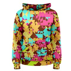 Shapes In Retro Colors Pullover Hoodie