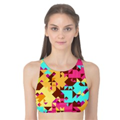 Shapes in retro colors Tank Bikini Top