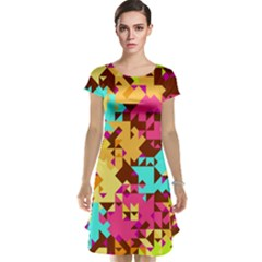 Shapes in retro colors Cap Sleeve Nightdress