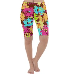 Shapes in retro colors Cropped Leggings