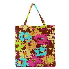 Shapes In Retro Colors Grocery Tote Bag