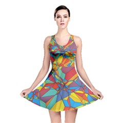 Colorful Miscellaneous Shapes Reversible Skater Dress