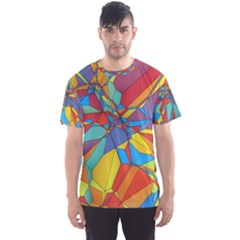 Colorful miscellaneous shapes Men s Sport Mesh Tee