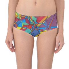 Colorful miscellaneous shapes Mid-Waist Bikini Bottoms