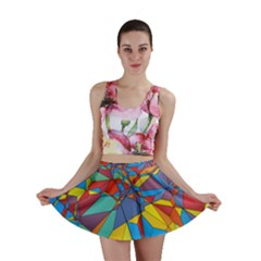 Colorful miscellaneous shapes Mini Skirt