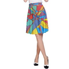 Colorful miscellaneous shapes A-line Skirt