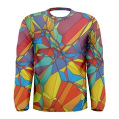 Colorful Miscellaneous Shapes Men Long Sleeve T Shirt