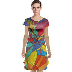 Colorful miscellaneous shapes Cap Sleeve Nightdress