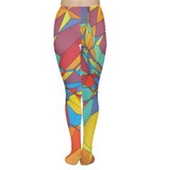 Colorful miscellaneous shapes Tights