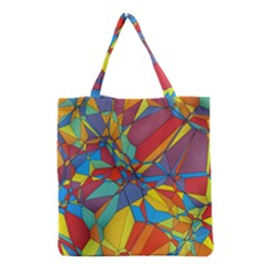 Colorful Miscellaneous Shapes Grocery Tote Bag