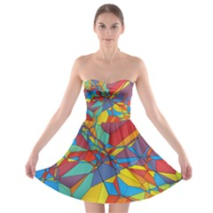 Colorful miscellaneous shapes 	Strapless Bra Top Dress