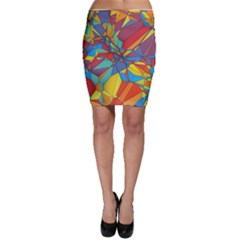 Colorful Miscellaneous Shapes Bodycon Skirt