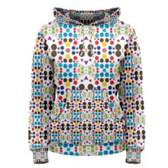 Colorful Dots Pattern Pullover Hoodie